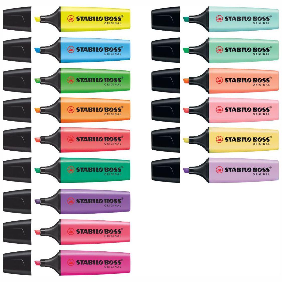 STABILO Textmarker BOSS 70 2-5mm [15 Farben wählbar]