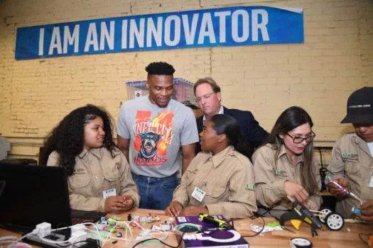 Russell Westbrook LA Conservation Corps