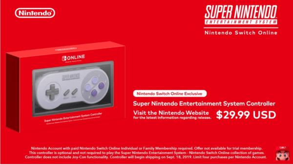 Super Nintendo Switch Online Controller