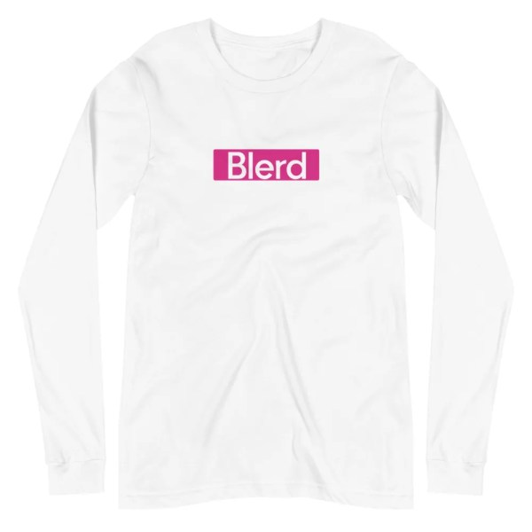 Blerd Pink box logo long sleeve tee