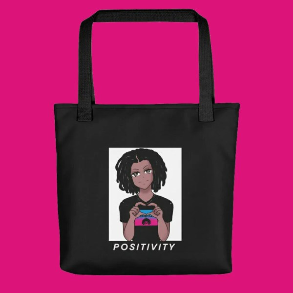 blerd positivity tote bag