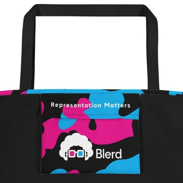 Blerd Camo Beach Bag Inside