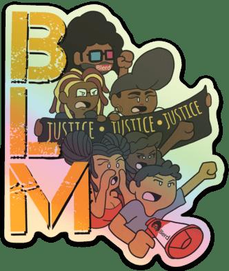 Blerd X Whoman Black Lives Matter Sticker