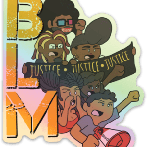 Blerd X Whoman Black Lives Matter Sticker