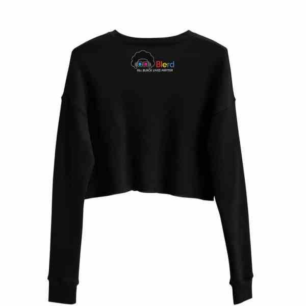 Blerd Pride Crop Sweatshirt Back