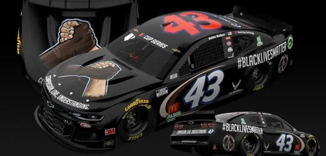 black lives matter bubba wallace nascar livery paint protest e1591804474970