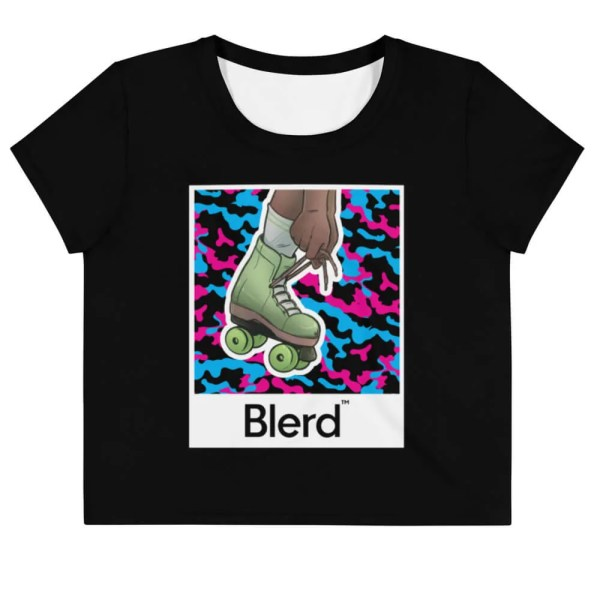 Normalize Blackness Skater Crop Tee Front