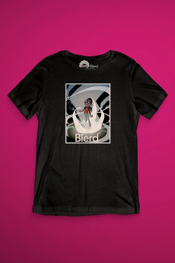 over powered blerd shirt image 2