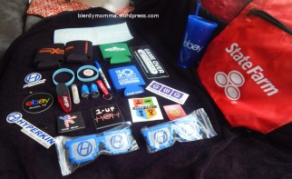 Endless Swag- I always enjoy the freebies. I added koozies, car adapters, and even chapstick to my collection.