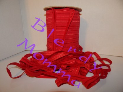 red fold over elastic