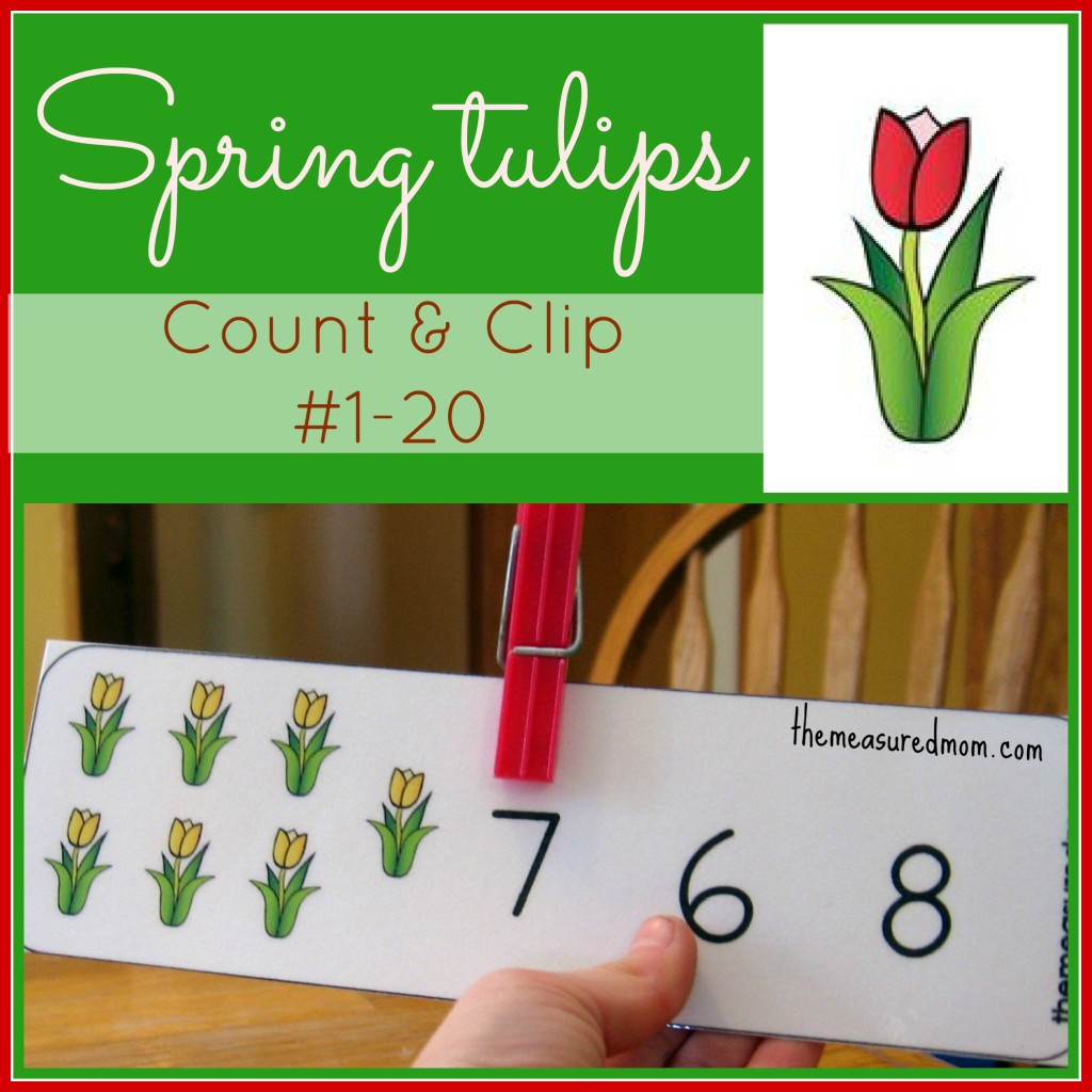 Free Tulip Printables For Number Recognition