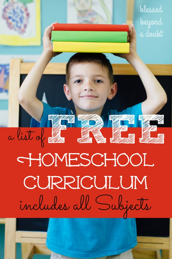 The Full List of Free Homeschool Curriculum that will Excite your ...