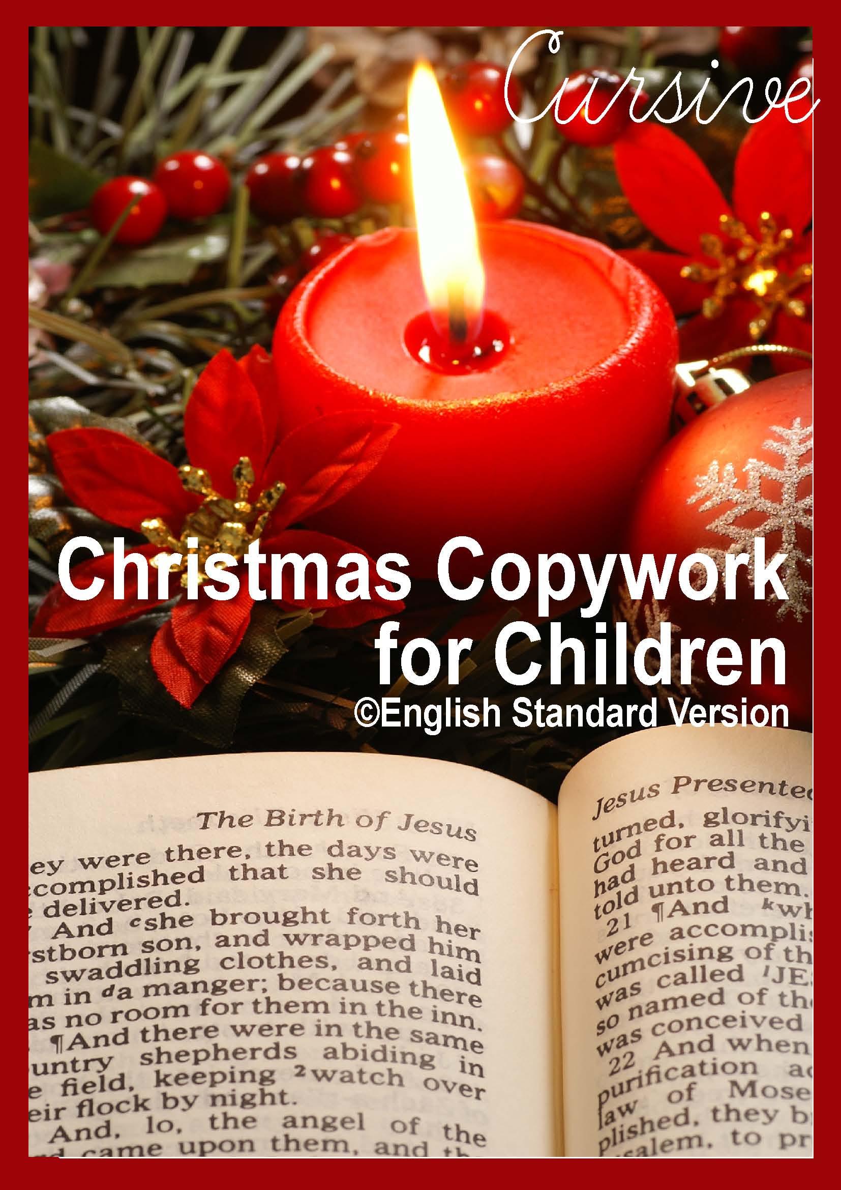 Free Christmas Bible Copywork
