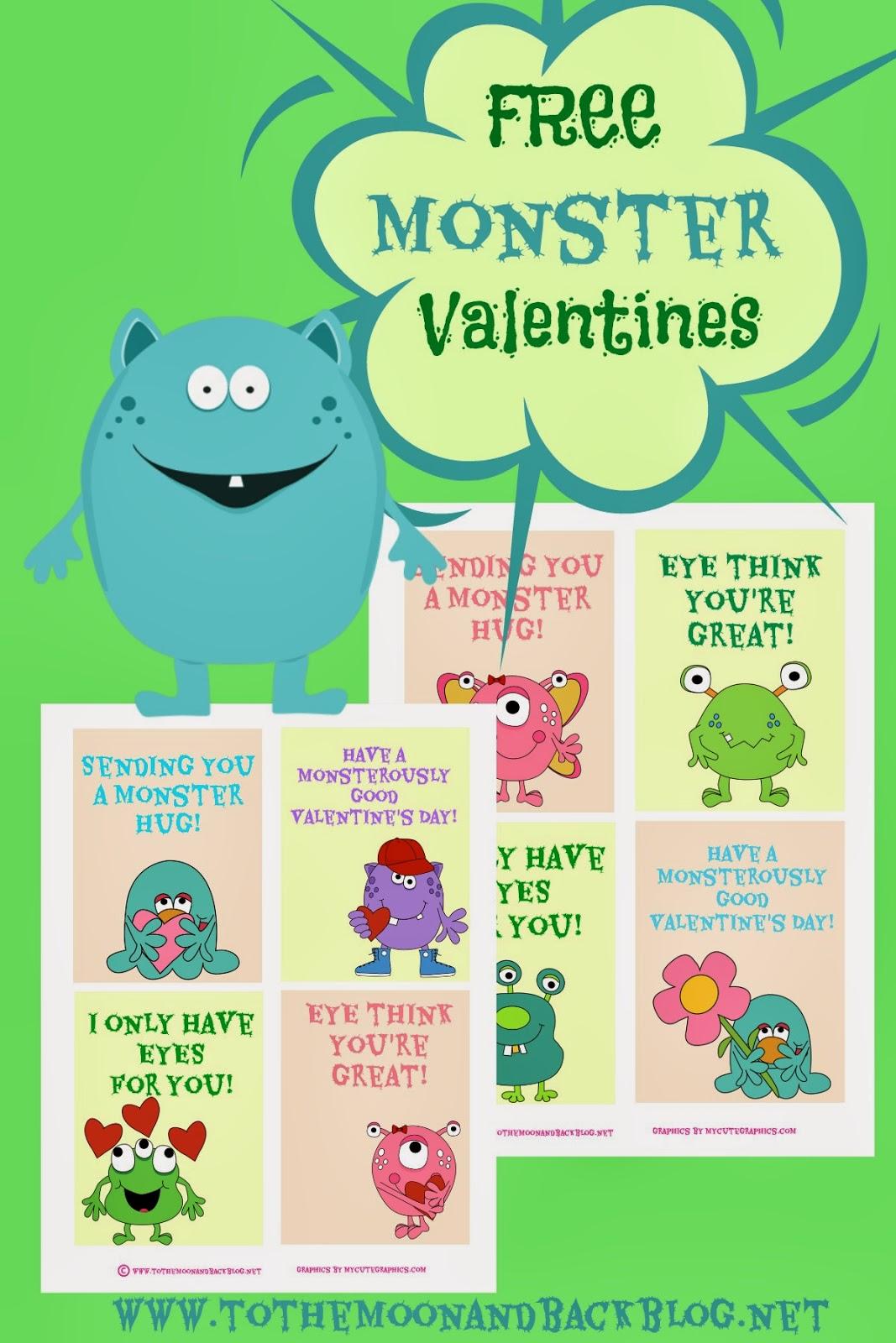 Free Monster Valentines