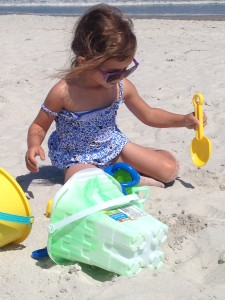 Vivi loved playing in the sand