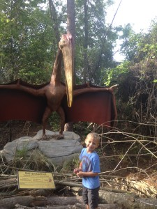 Jonah LOVED the dinosaur exhibit