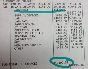 I actually took this bill to the hospital to verify the amounts.