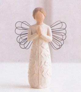 This Willow Tree figurine perfectly describes one of my dearest community members.