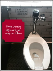Why do find it easy to follow some warning signs and ignore others?