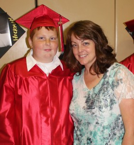 Andrew and I at his graduation.