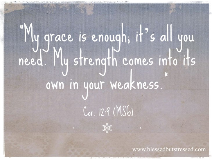 God's grace is enough--it's all  you need. http://wp.me/p2UZoK-Gg via @blestbutstrest #Coffeeforyourheart