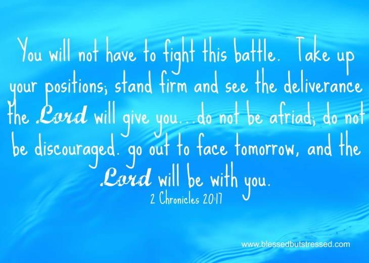 The Lord is with you.  He'll fight your battles for you. http://wp.me/p2UZoK-Hn via @caregivermom