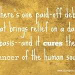 Relief for Cancer of the Human Soul