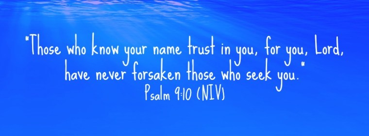 God will never forsake you