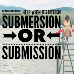 Submersion or Submission: Which would you choose?