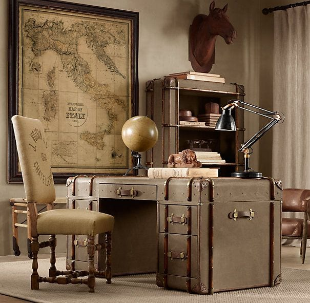 Home Office Desk Decor Idea | Restoration Hardware.