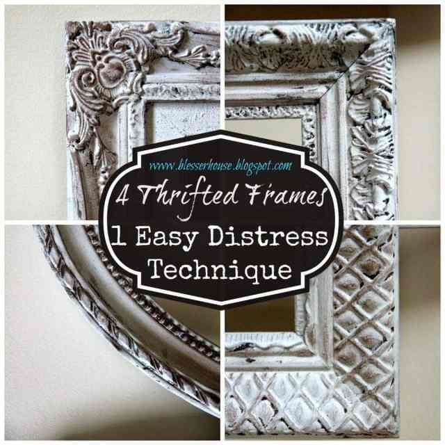 4 Thrifted Frames 1 Easy Distress Technique Bless Er House