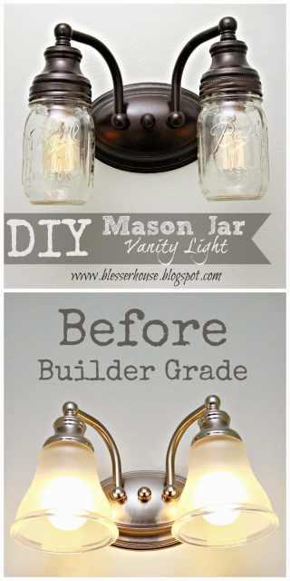 Diy Mason Jar Vanity Light Bless Er House