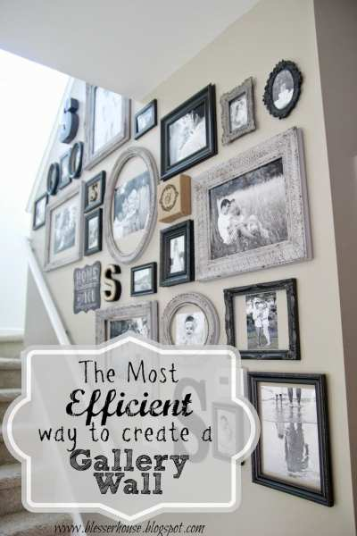 The Most Efficient Way to Create a Gallery Wall   Bless er House