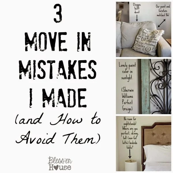 3 Move In Mistakes I Made | Bless'er House
