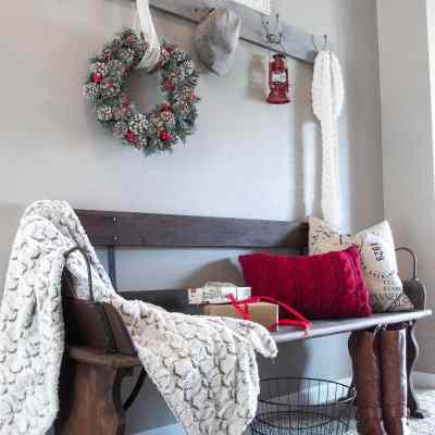 Holiday Home Tour Sneak Peek: Rustic Christmas Entryway