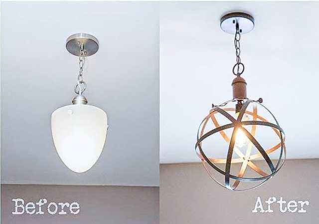 Bless'er House | DIY Industrial Rustic Sphere Pendant Light