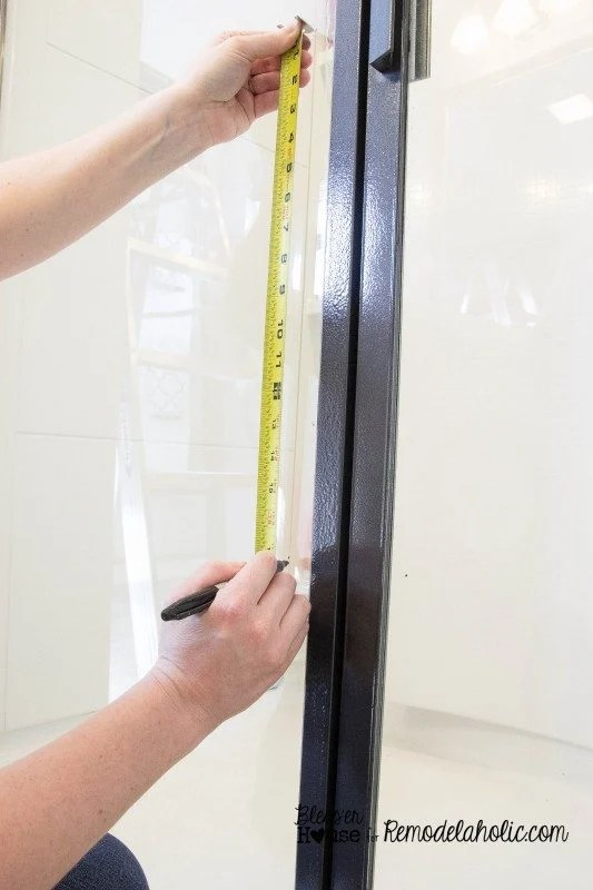 how to add window grids to a shower door for an industrial factory window look