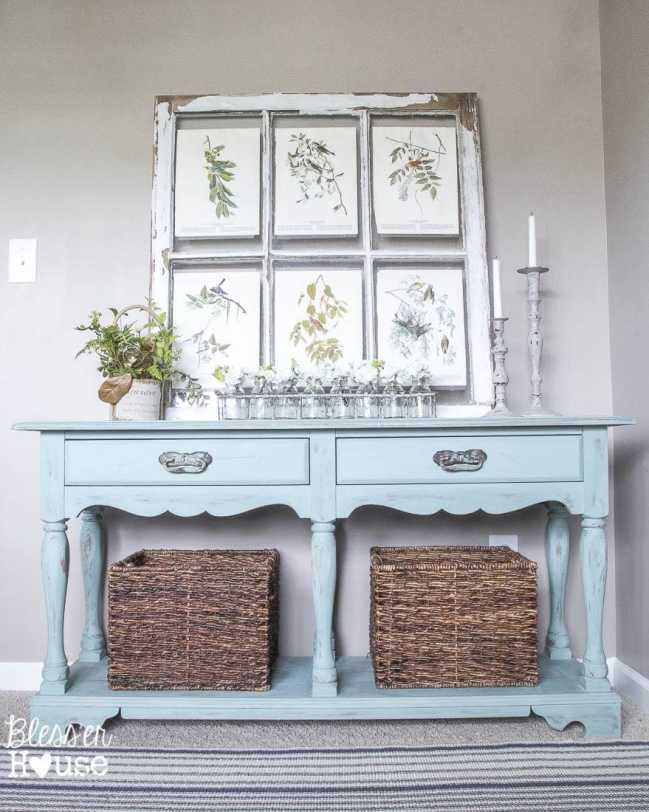 Beachy Console Table Makeover (1 of 11)
