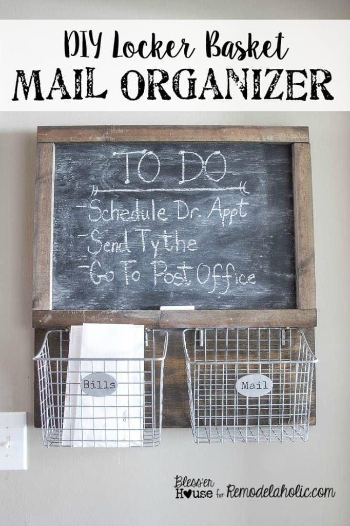 DIY Locker Basket Mail Organizer