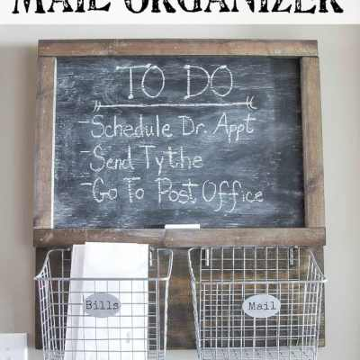 DIY Locker Basket Mail Organizer (Remodelaholic Post)