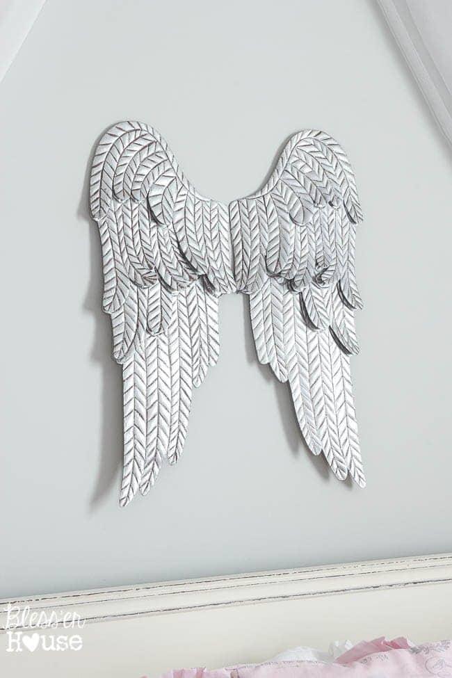 Aged Metal Angel Wings   Bless'er House