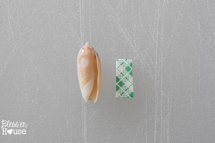DIY Seashell Printer Tray Shadow Box + Coastal Vignette | Bless'er House