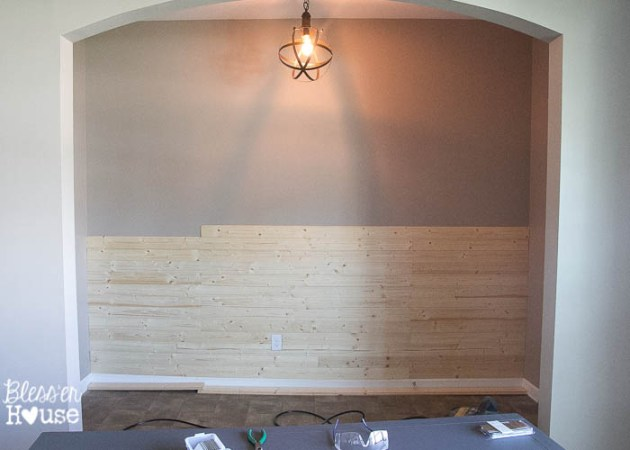 DIY Faux Shiplap Wall DIY Faux Shiplap Wall  8 of 14