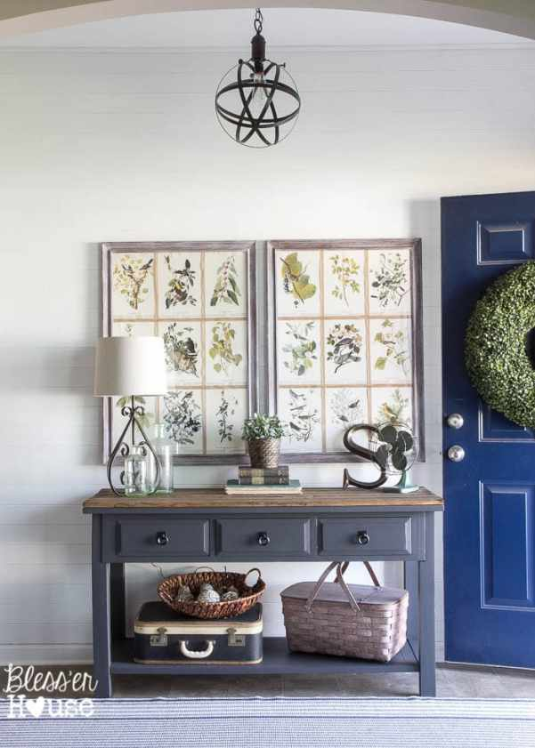 Modern Farmhouse Foyer Makeover | Bless'er House