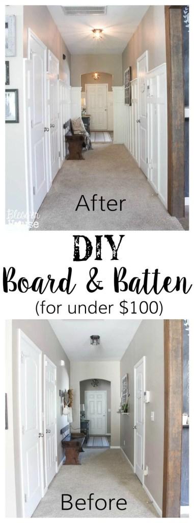 DIY Board and Batten for Under $100 + Glidden Review & Giveaway | Bless'er House