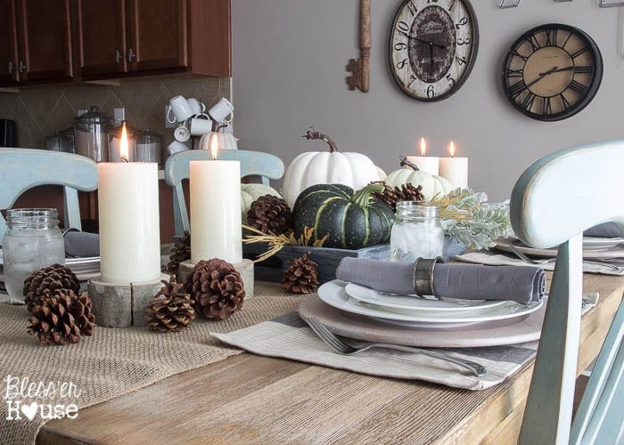 Muted Fall Tablescape | Bless'er House