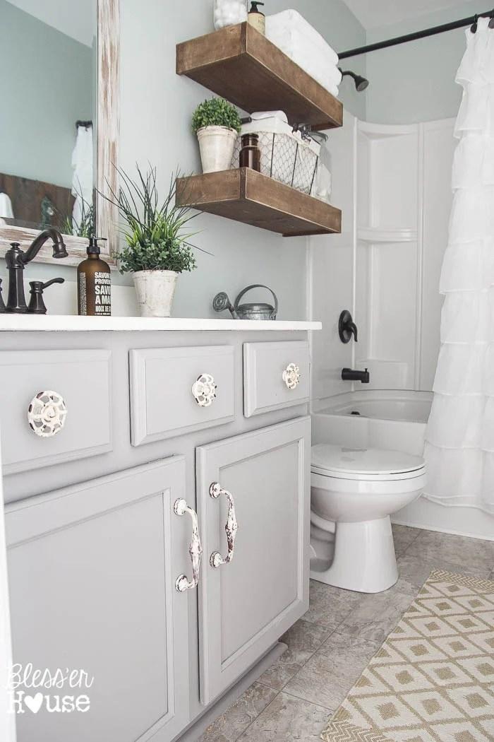 Modern Farmhouse Bathroom Makeover Reveal on Bathroom Ideas Modern Farmhouse  id=37443