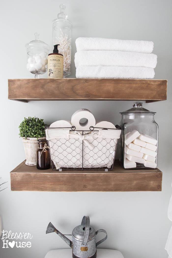 Modern Farmhouse Bathroom Makeover Reveal on Bathroom Ideas Modern Farmhouse  id=13999