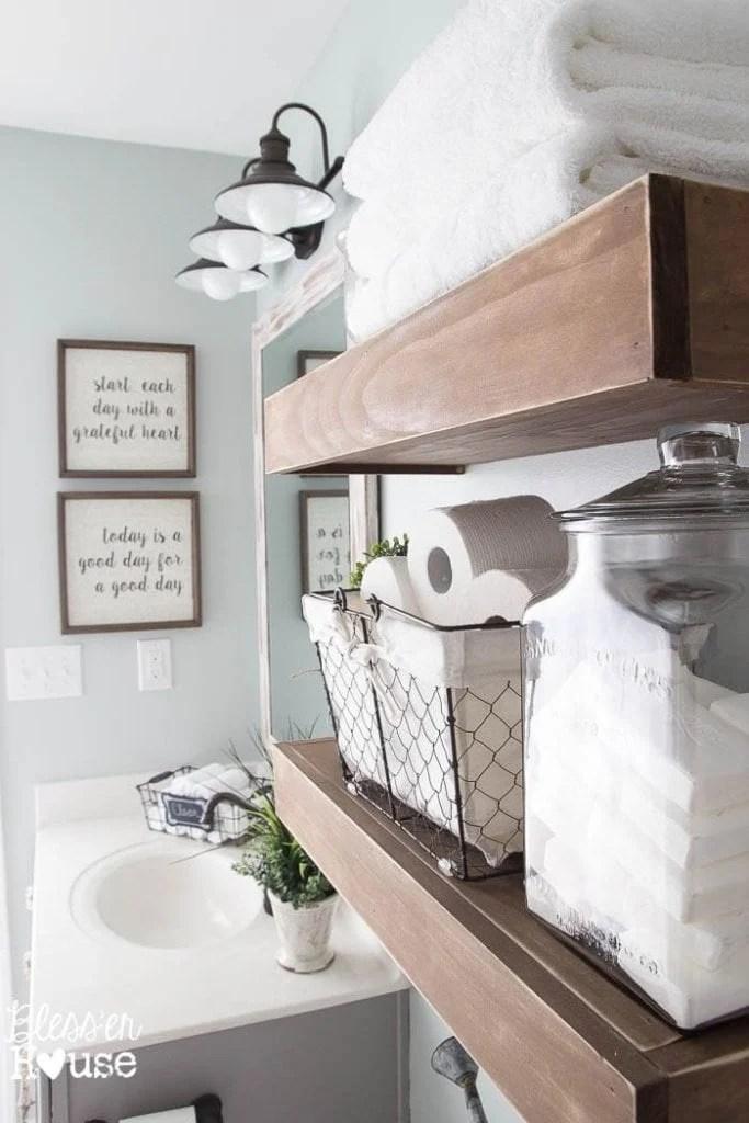 Modern Farmhouse Bathroom Makeover Reveal on Bathroom Ideas Modern Farmhouse  id=57432