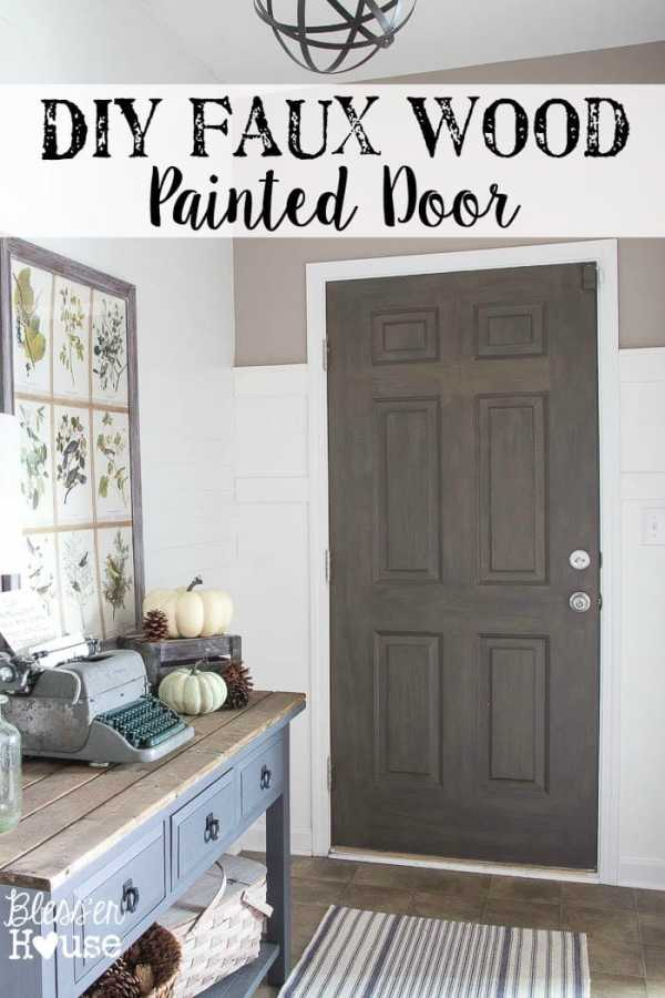 DIY Faux Wood Painted Door | Bless'er House